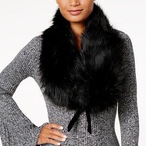 INC International Concepts Faux Fur & Velvet Stole
